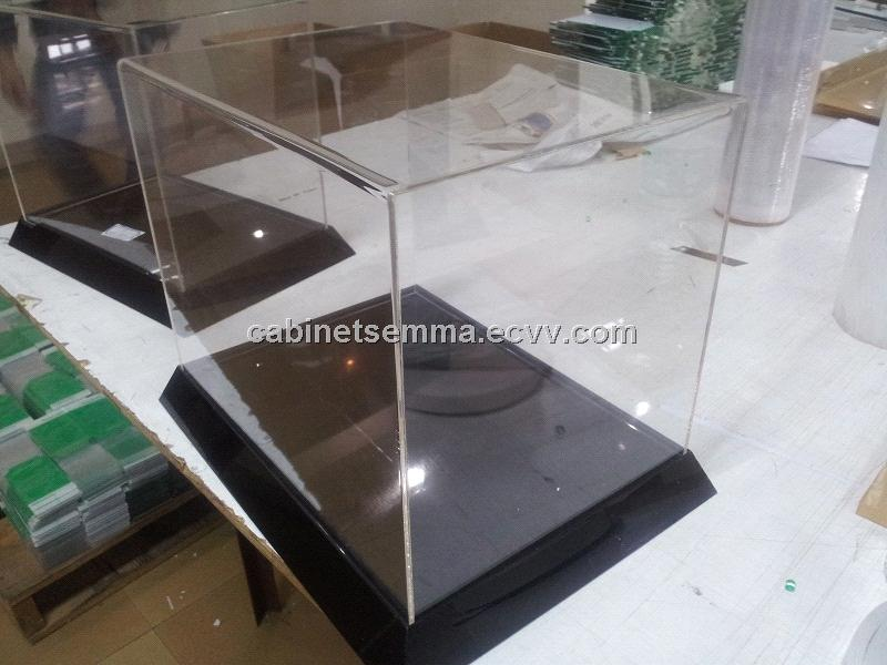 Acrylic Box Table : Table top clear acrylic case lucite display stand box