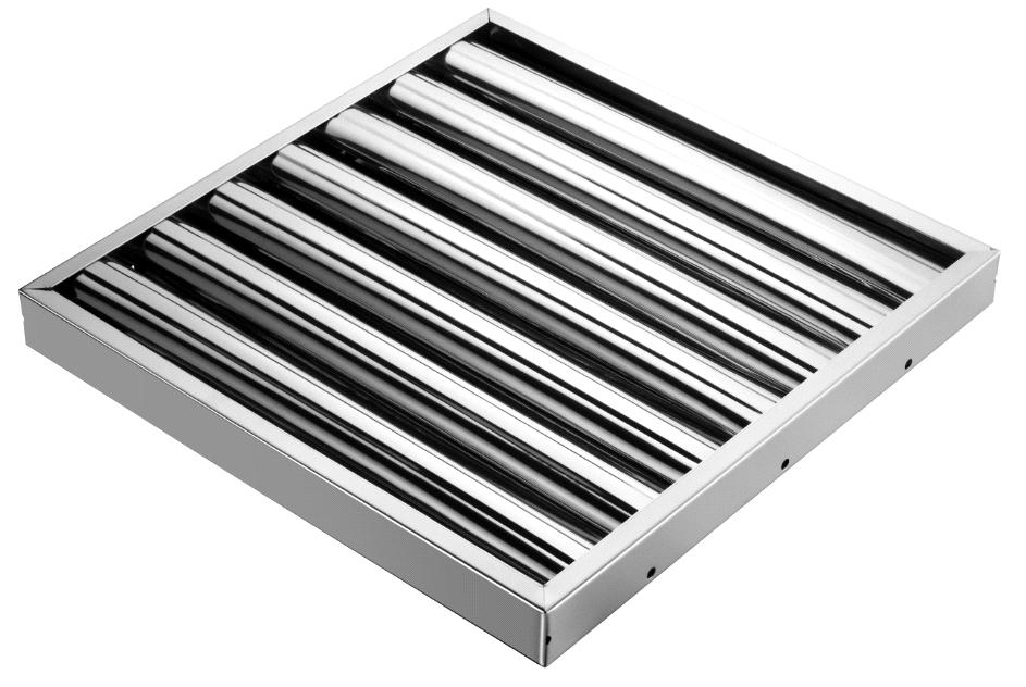 Kitchen Hood Filters ~ Stainless steel kitchen range hood grease baffle filter