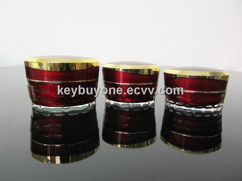 15ml 30ml 50ml Tapered Diamond Acrylic Jar Acrylic Diamond Cream Jar