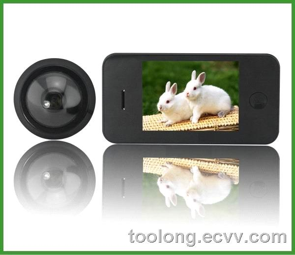 3.5inch LCD Door Eye Viewer +door Bell+night Vision+iphone Fashion Design