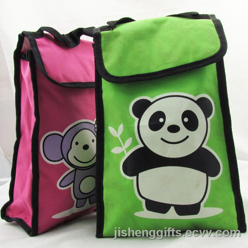 Cute Design School Kids Food Cooler Bag Foam Ice Lunch Bag