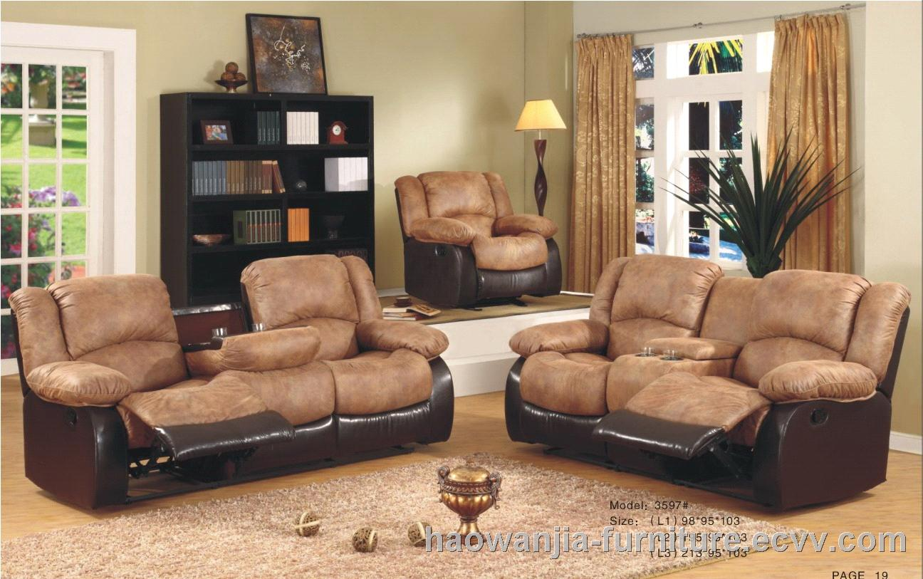 fabric reclining sofa sets doulbe recliner with console purchasing souring agent. Black Bedroom Furniture Sets. Home Design Ideas