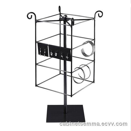 rotating jewelry card display wire jewelry display rack