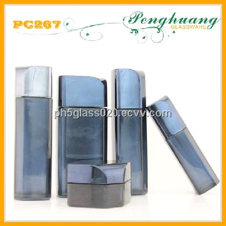 frosted color skin care cream glass bottles and jars