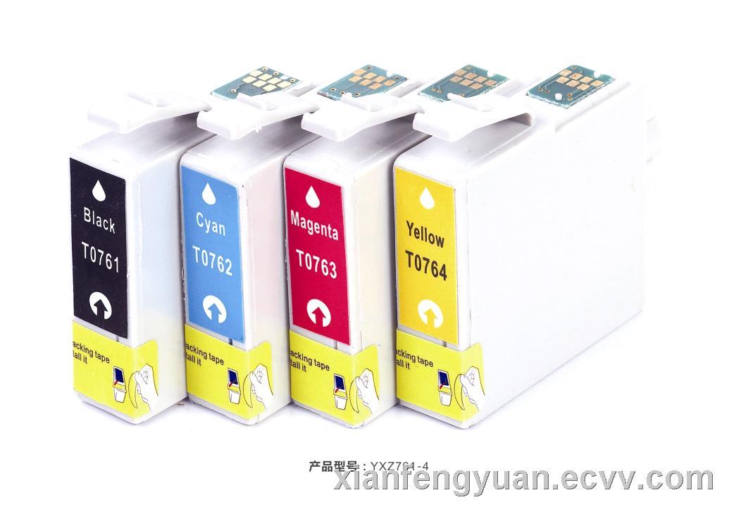 new compatible Epson Inkjet Cartridge  T0761 T0762 T0763 T0764