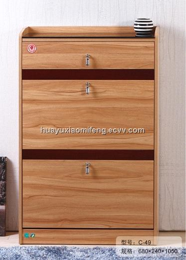 Light Walnut Color Shoe Cabinet