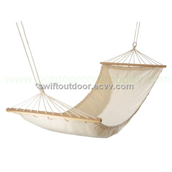 ... Single Person Canvas + Wood Hammock Blue & Red & Yellow | Alex NLD