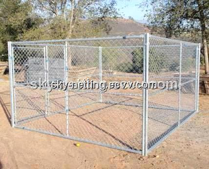 Outdoor Steel Folding Dog Runs Dog Kennel With A Frame