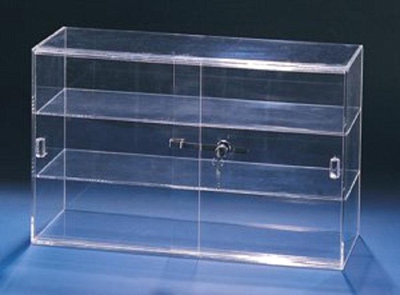 Marvelous Acrylic Showcase Lockable Display Cabinet With Sliding Doors