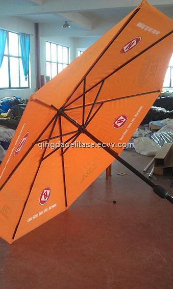 Advertising Cafe Umbrella with screen printed canopy