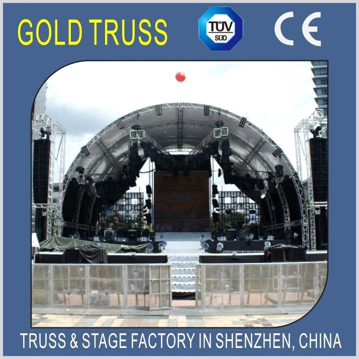 Aluminum Roof Truss Stage Roof Truss For Outdoor Concert