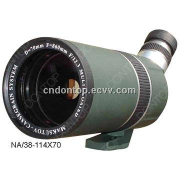 Dontop Optic Zoom Target and Bird Watching Spotting Scope 38-114X70