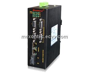 ME-C2084 4-way RS485/422+1-Port-Fx+ 2-Port-Tx 100M Ethernet Serial Server