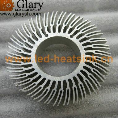 70mm Aluminum Round Extrusion Heatsink Radiator Cooler For