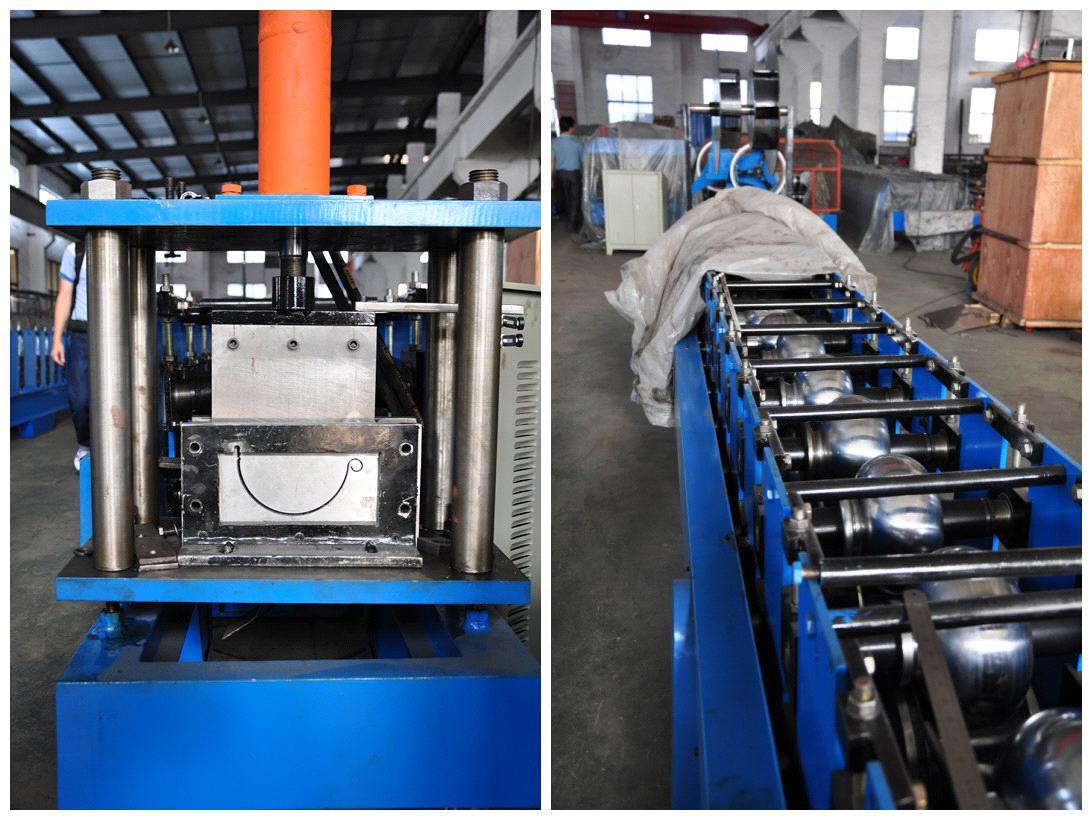 hydraulic cutting plc control gutter roll forming