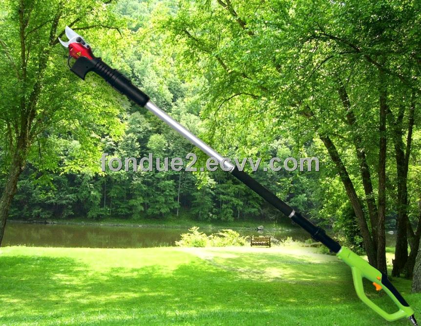 Long electric garden scissors pole electric pruning shear for Electric garden scissors
