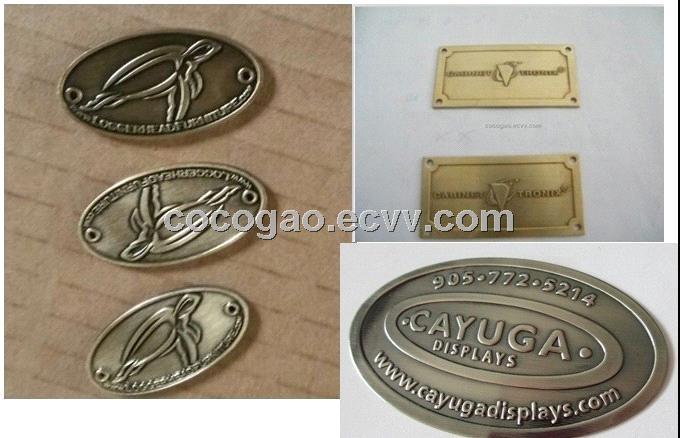 Custom Furniture Label Aluminum Logo Adhesive Label Gold Label Metal Tag Purchasing Souring