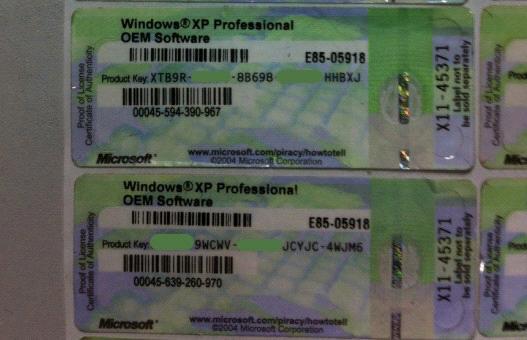 Hong_Kong_Windows_xp_oem_COA_Win_xp_Pro_oem_COA_License ...