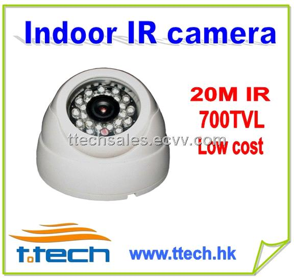 Cheap low cost cctv ir dome camera indoor used 700tvl - Low cost camera ...