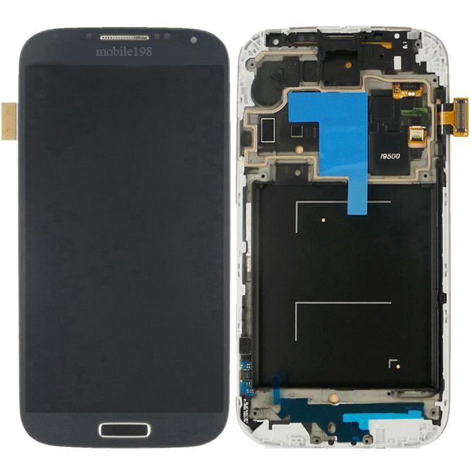 LCD Screen and Touch Screen Digitizer with Front Housing for Samsung Galaxy S4 Gt-I9500 Mobile Phone