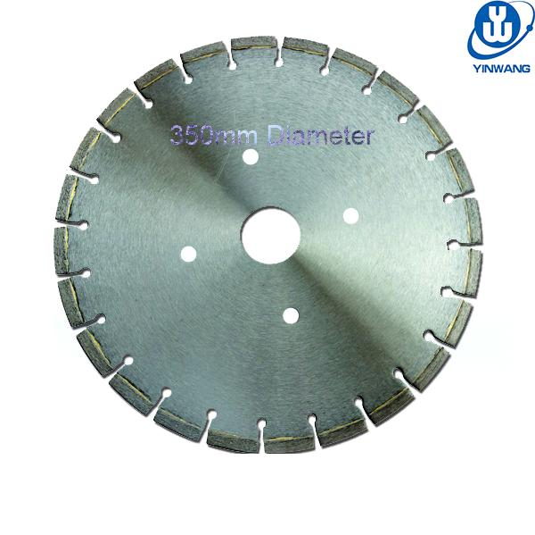 350mm Diameter Silver Welding Wet Cutting Granite Diamond Saw Blades