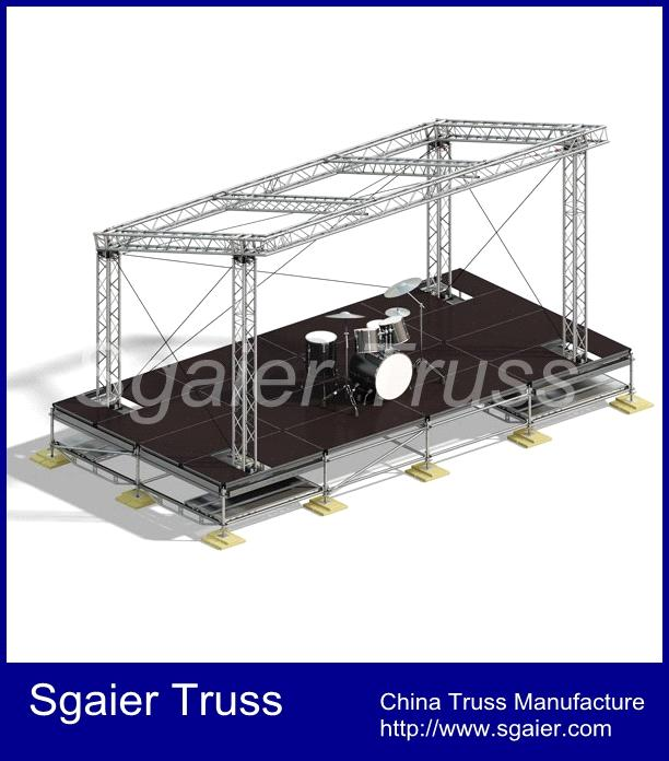 Aluminum Stage Roof Structure Stage Truss China Lighting