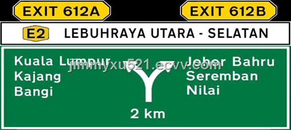 Malaysia Expressway Indicate Guild Direction Traffic Road