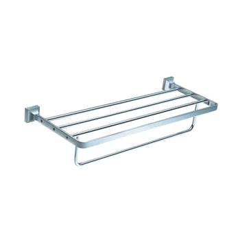 Wall Mounted Bathroom Towel Shelf Rack Polished Chrome