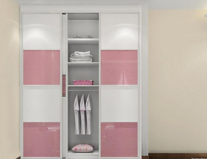 Pink white color bedroom cabinet built in wardrobe for White bedroom cabinet