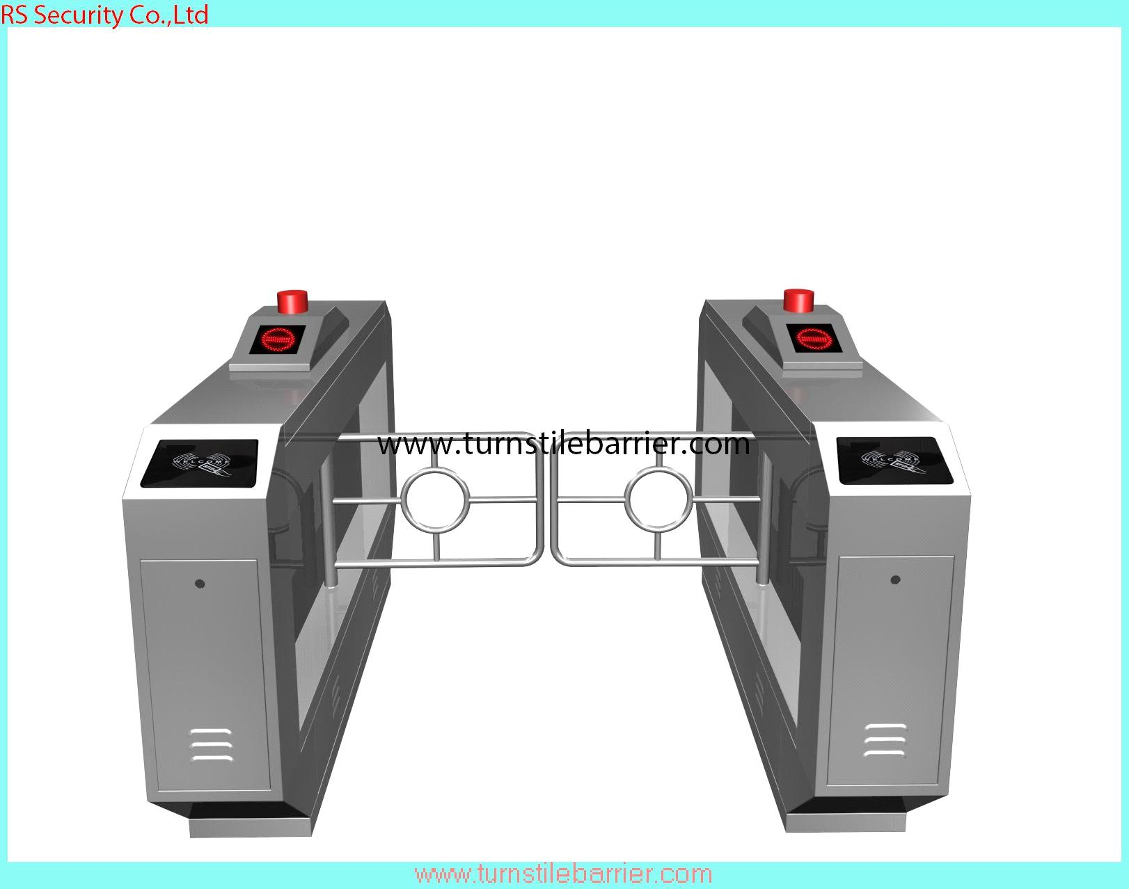 Electronic turnstile barrier security swing gate