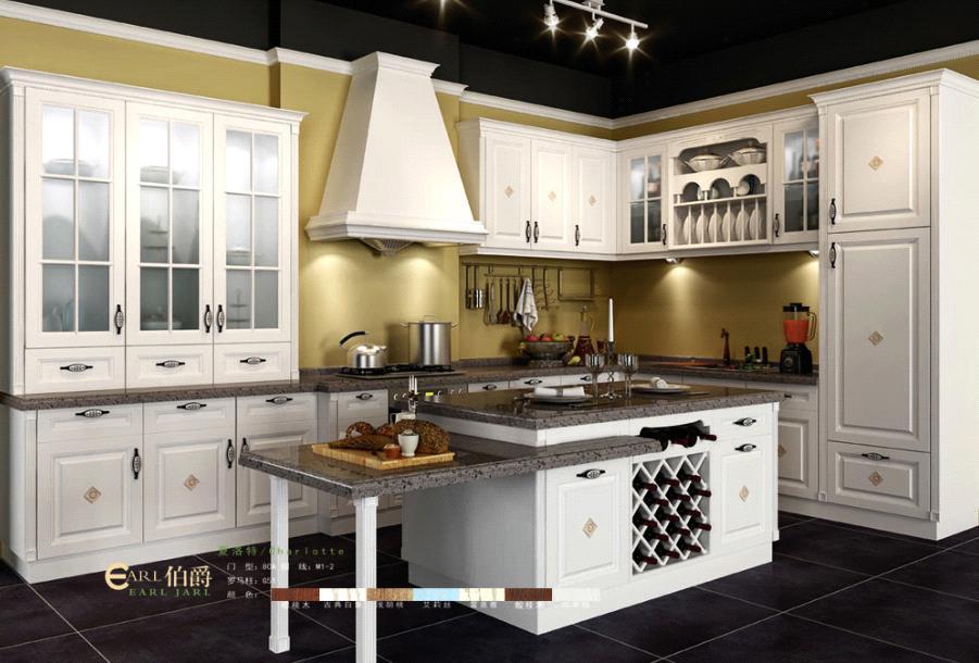 Best Price New Design Pvc Laminated Kitchen Cabinet
