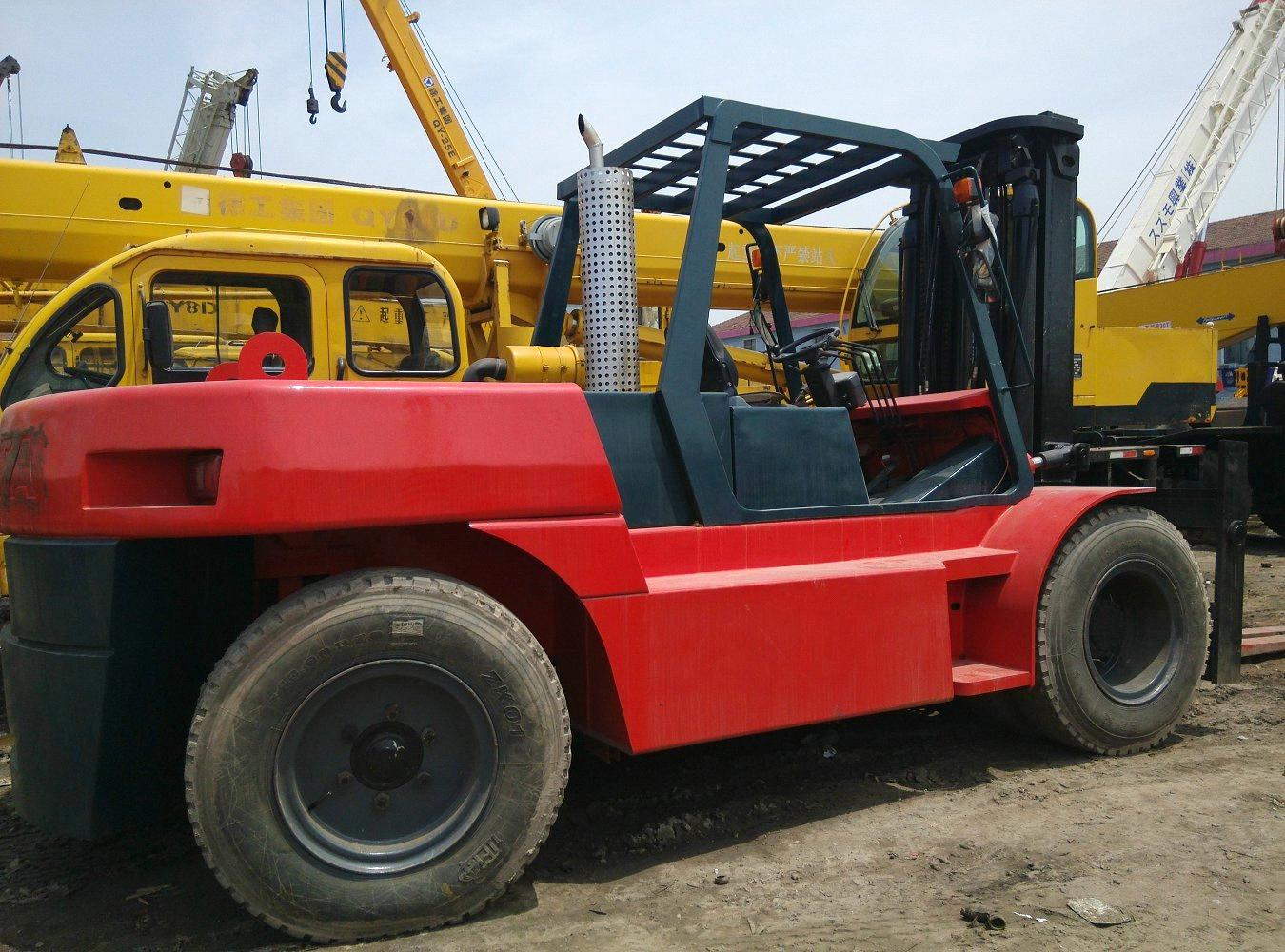 10 Ton Fork Lift : Used toyato ton forklift original from japan purchasing