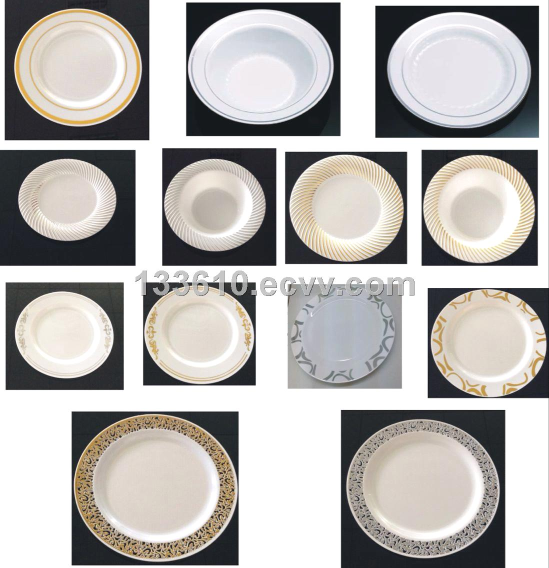 Disposable new design plastic plate