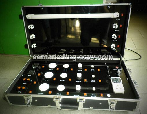 led lamps demo case show case led bulb display cupbard folded metal