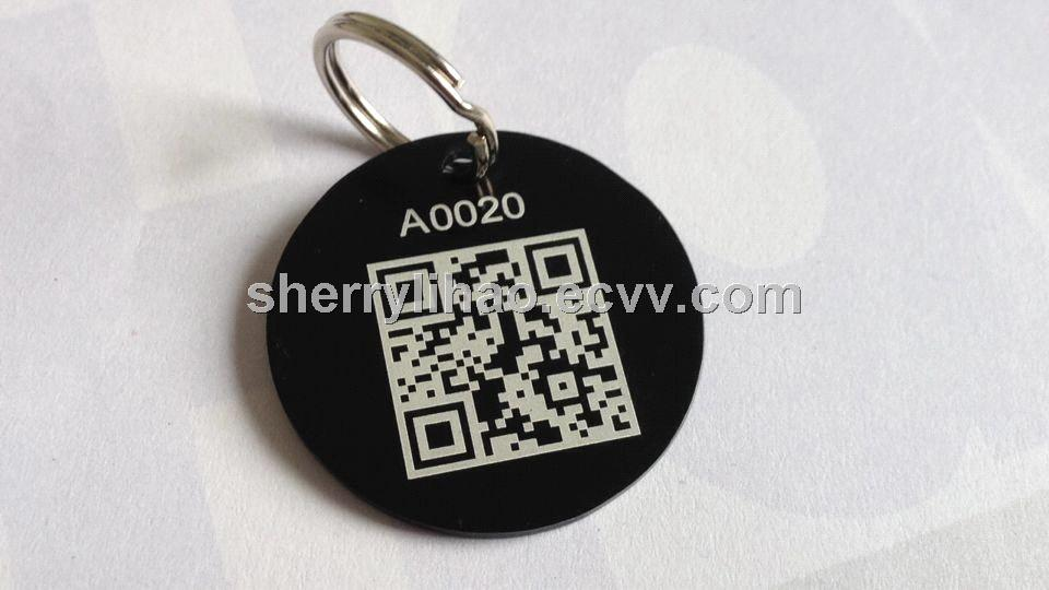 Qr code pet id dog tagsaluminum metal dog taganodized for Qr code dog tag