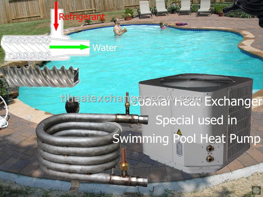 Titanium Refrigerant Water Heat Exchangers For Swimming Pool Heat Pump Purchasing Souring Agent