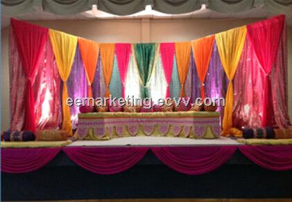 Pipe & Drape System Curtain Rod Popular Stage for Wedding, Trade ...