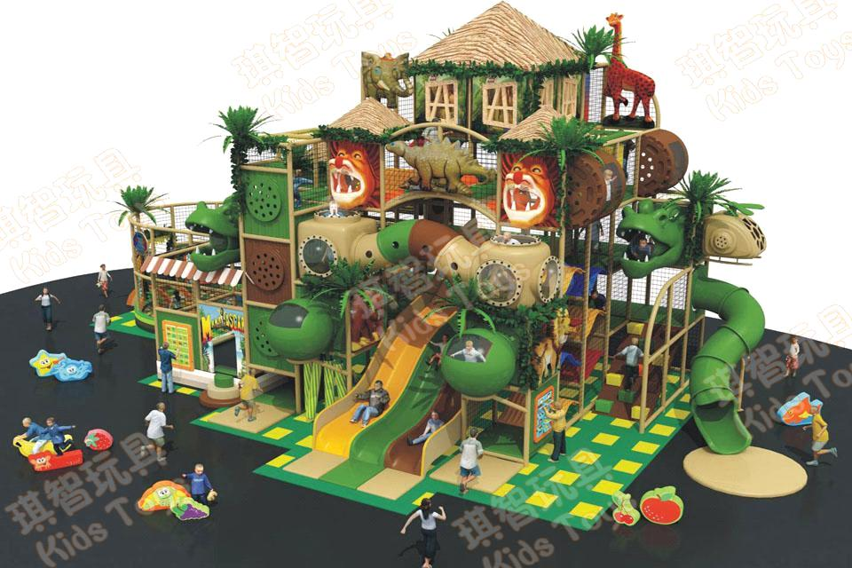 2014 hot sale jungle theme indoor playground for kids for Indoor play structure prices
