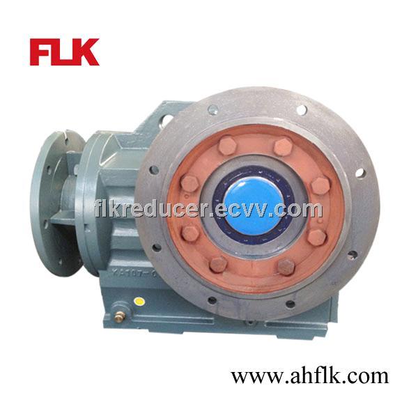 Kaf series b5 flange mounted hollow output shaft gearbox for Hollow shaft worm gear motor