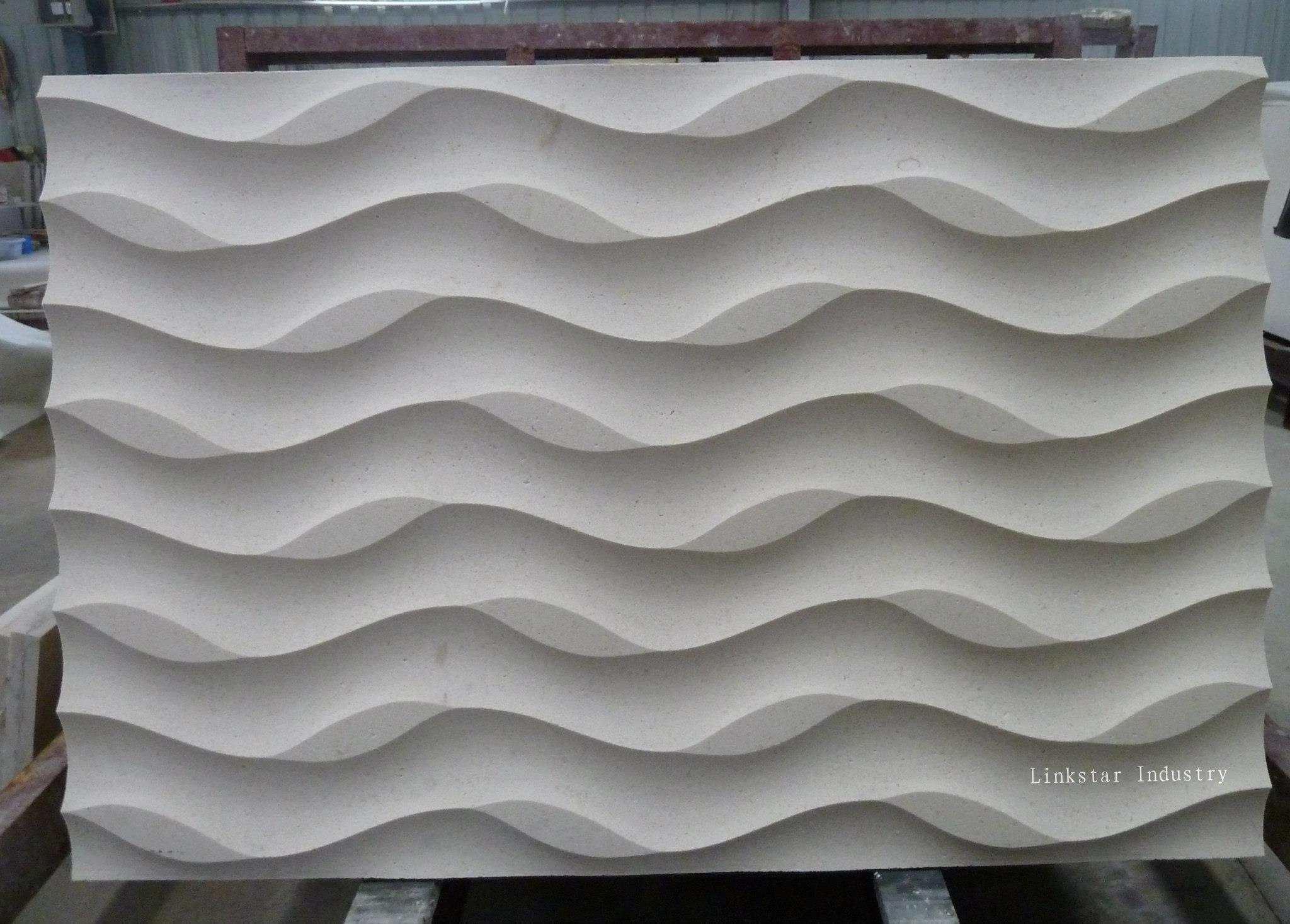 Natural limestone 3d wall covering panels purchasing for 3d wall covering