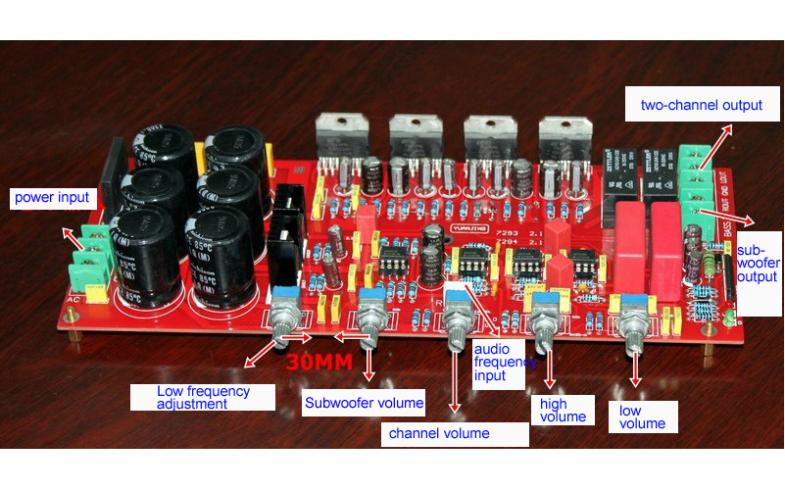TDA7294 Amplifier Board with Sealed Potentiometers 2X80W+160W(Subwoofer)