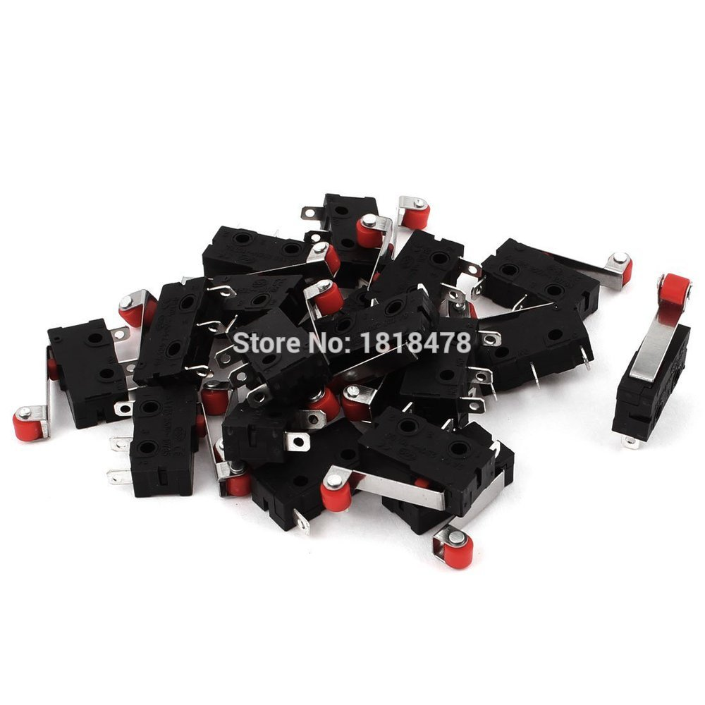 20Pcs Momentary Hinge Lever Limit Switch Microswitch AC 125V 250V 5A