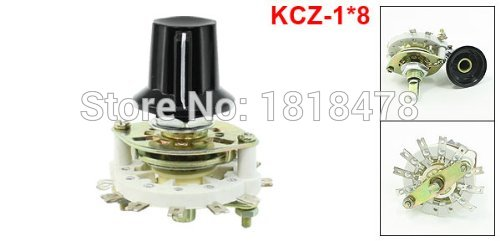Plastic Handle 1P8T Band Channel Rotary Switch Selector KCZ1*8