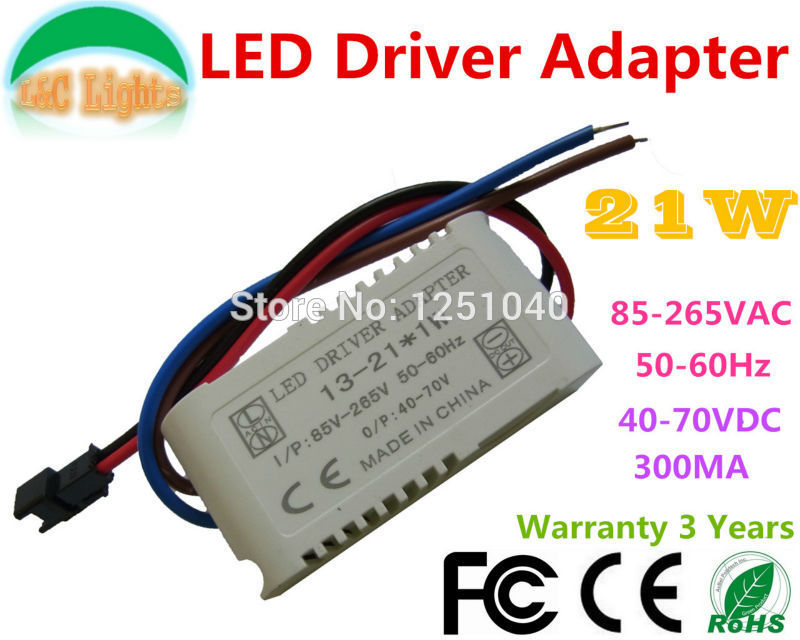 LED Driver Adapter 3W 5W 7W 12W 15W 21W 300mA Power Supply 85-265V CE Lighting Transformator LED Downlights External ABS housing