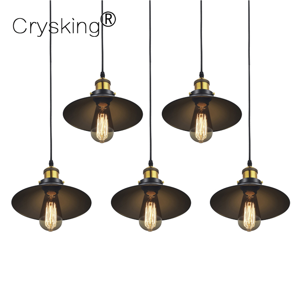 Russia Vintage Chandelier Retro Black Hanging Lamp with E27 Lamp Base Edison Chandelier Lamp for Cafe Bar Dining Living Room