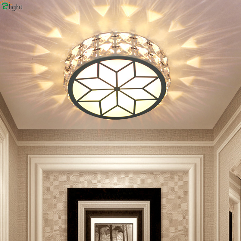 Modern Simple Acrylic Living Room Led Ceiling Chandeliers Light Lustre Crystal Dimmable Corridor Led Chandelier Lighting Fixture