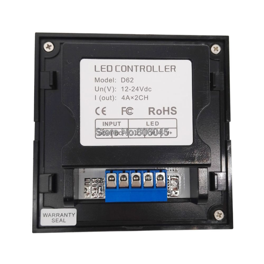 LTECH D62 Color Temperature Knob Panel CCT LED Controller DC12V 24V Input 4A x 2CH 8A Output for Dual White LED Strip