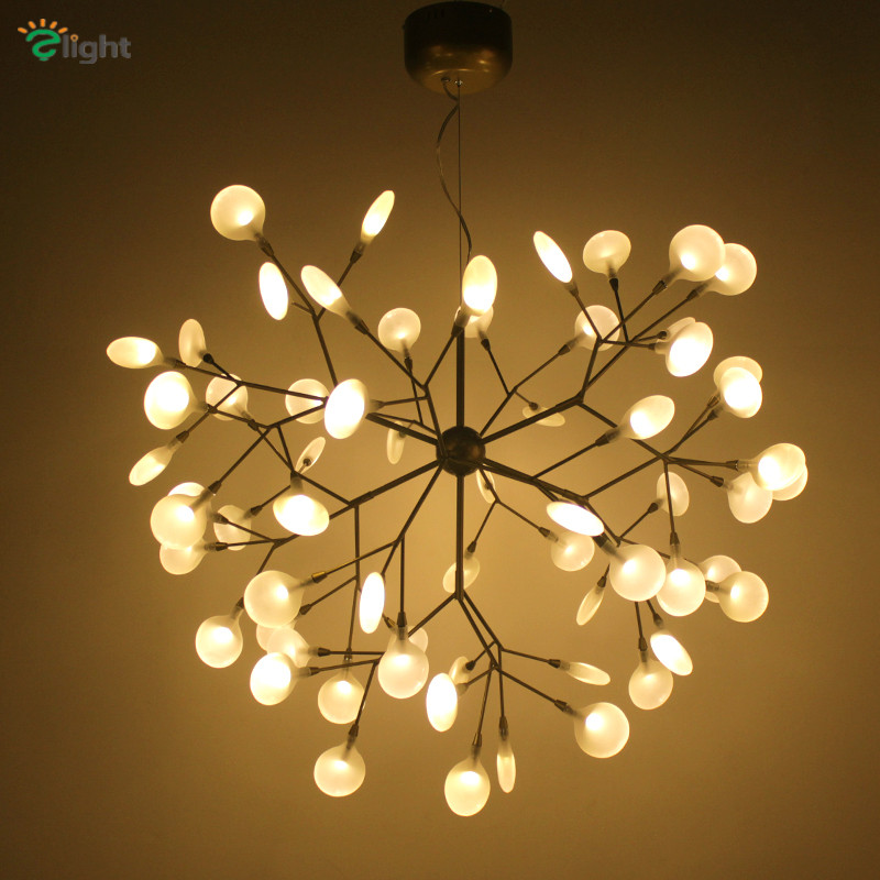 Modern metal branch led pendant chandelier light lustre acrylic dining room led chandeliers lighting led hanging