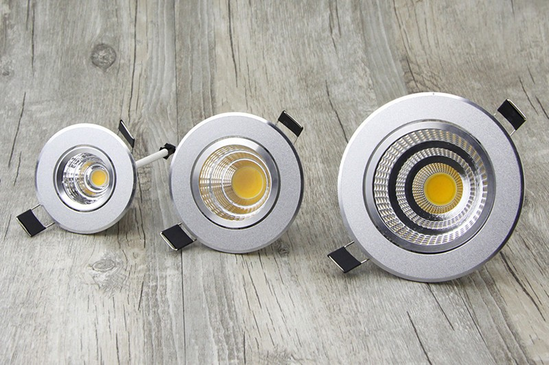 [DBF] Silver Ultra gorgeous Dimmable LED COB Downlight AC110V 220V 6W9W12W15W Recessed LED Spot Light Decoration Ceiling Lamp (14)