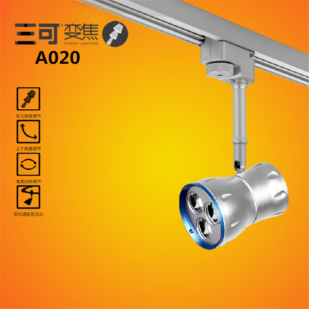 2014new brand 9W LED track focus spotlight for Art Gallery Exhibition hall lighting AC100-240V white/warm white/cold white